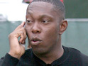 Dizzee Rascal says that he would love to work with Calvin Harris again, but can't get hold of him.