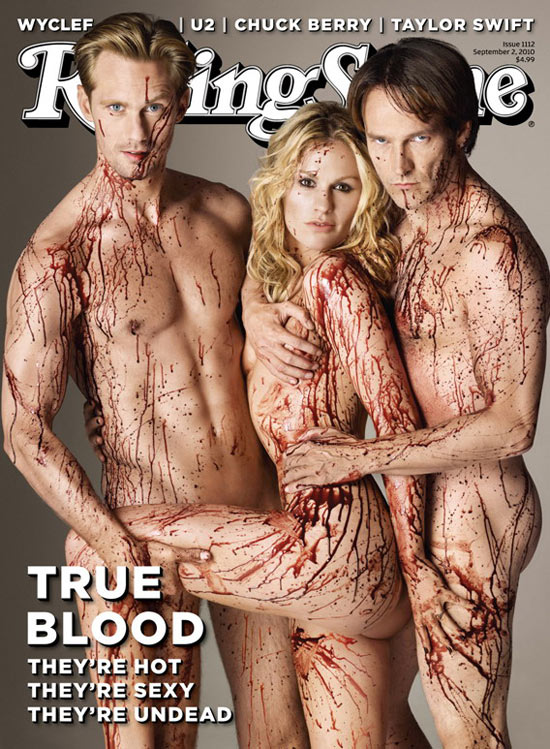 Alexander Skarsgaard, Anna Paquin and Stephen Moyer on Rolling Stone cover