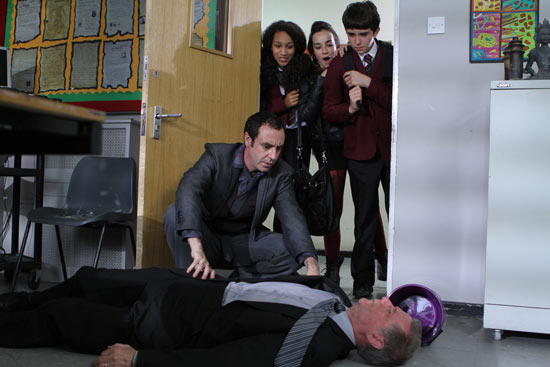 Rob finds the head teacher unconscious