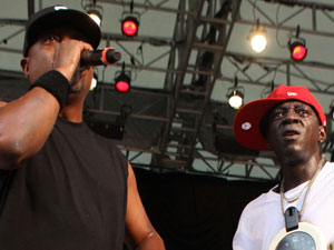 Chuck D and Flavour Flav from Public Enemy