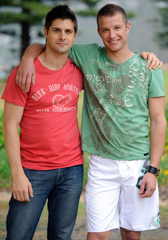 Ryan Johnson and Luke Jacobz who play Paulie and Angelo Rosetta