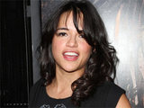 Michelle Rodriguez attending the Los Angeles premiere of action/thriller flick 'Machete'