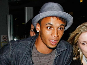 Aston Merrygold is mobbed by fans