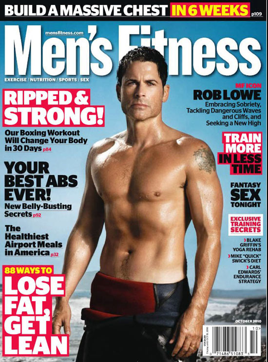 Rob Lowe on Men's Fitness