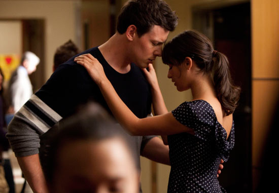 Rachel and Finn dancing in Glee