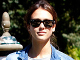 Jessica Alba arrivees at the Excelsior Hotel