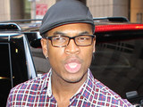 Ne-Yo outside his hotel in New York