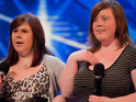 Friends Abbey and Lisa have an on-stage bust-up after their audition on tonight's X Factor.