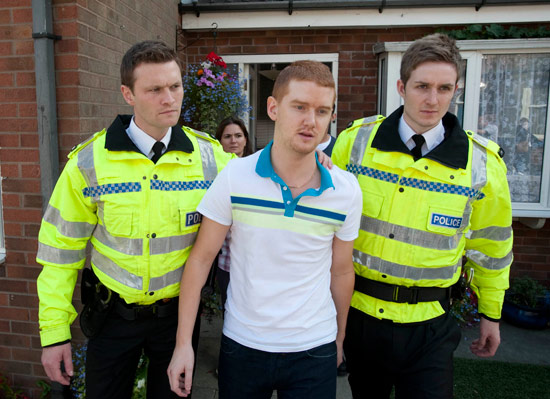 The police arrive to arrest Gary