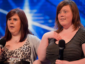 Abbey and Lisa on The X Factor