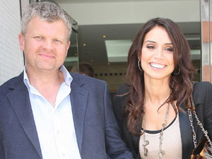 Adrian Chiles and Christine Bleakley outside the ITV television studios