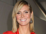 Heidi Klum at the Mercedes-Benz IMG New York Fashion Week