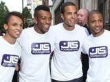 JLS outside the Radio One studios
