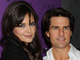 Tom Cruise and Katie Holmes at the Cinema Society Screening of 'The Romantics'