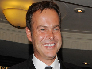 Peter Jones leaving the TV Choice Awards 2010
