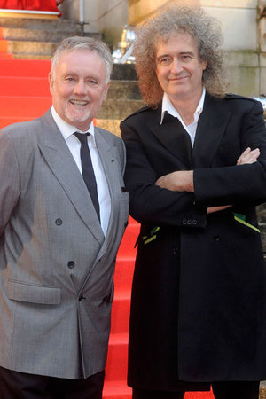 Roger Taylor and Brian May at the 'We Will Rock You' photocall