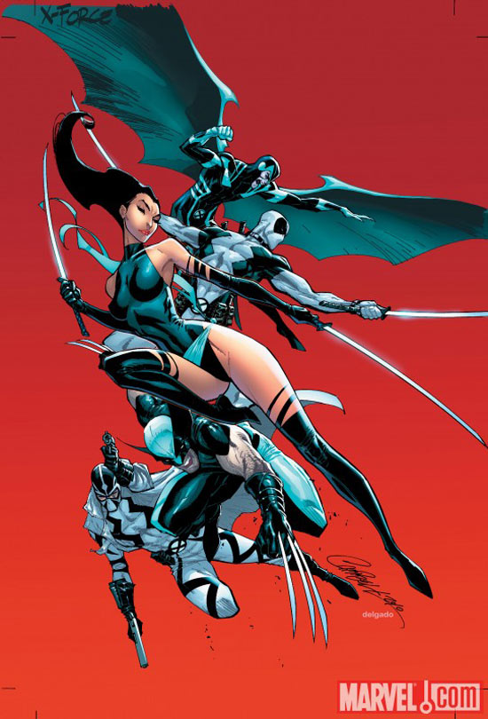 Uncanny X-Force, J. Scott Campbell variant cover