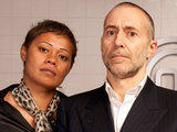 Monica Galleti and Michel Roux Jr on MasterChef: The Professionals