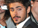 Zac Efron claims that he once grew a mustache to evade attention at the Coachella festival.