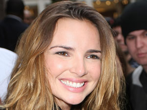 Nadine Coyle outside the BBC Radio 1 studios in London