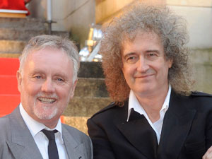Roger Taylor and Brian May at the &#39;We Will Rock You&#39; photocall