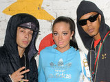 N Dubz volunteering at Lumpy Hill Adventure Playground