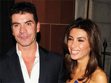 Simon Cowell and fiancé Mezhgan Hussainy out and about in London, England