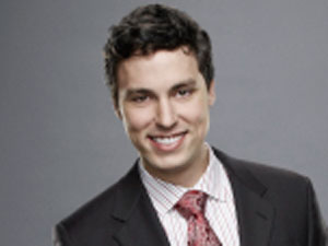 John Francis Daley as Dr. Lance Sweets in Bones