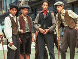 A still from the movie 'Newsies' (1992), starring Christian Bale
