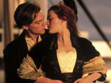 Kate Winslet and Leonardo DiCaprio in the Titanic