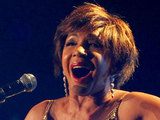 Dame Shirley Bassey performing at the 'Welcome To Wales' concert