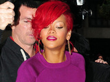 Rihanna leaving the Radio 1 studios
