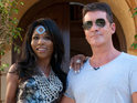 Sinitta stuns the X Factor Groups with her latest outrageous outfit at the Judges' House.