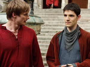 Merlin S03E04: Gwaine - Arthur and Merlin