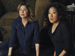 Meredith and Cristina in Grey's Anatomy S07E02