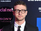 Justin Timberlake attending the French premiere of The Social Network