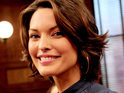 Alana De La Garza admits that she felt nervous about reprising her Law & Order role.