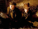 Simon Pegg and Andy Serkis in 'Burke and Hare'