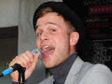 Olly Murs busking with 95.8 Capital FM in London's Leicester Square