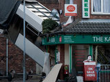 Coronation Street tram crash is set up