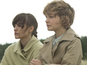 Keira Knightley and Carey Mulligan cling to Andrew Garfield for dear life...