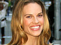 Hilary Swank says that she had a hard time gaining weight for her role in Conviction.