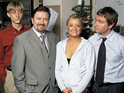 Ricky Gervais reveals that he used to try to make his The Office co-stars laugh during takes.