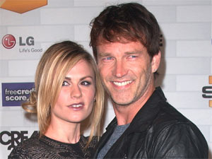 Anna Paquin and Stephen Moyer attending Spike TV's 'Scream 2010 Awards' held in Los Angeles