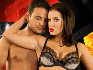 Rosie and Jason's lingerie advert