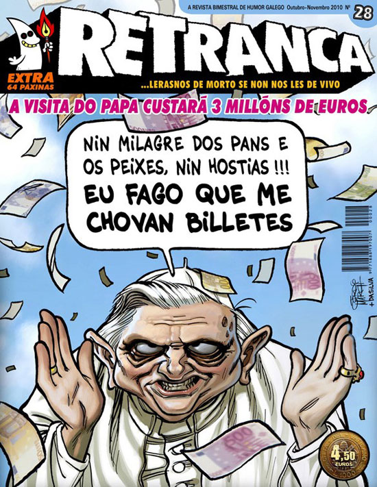 Front cover of Retranca magazine featuring the Pope