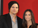 Ashton Kutcher and Demi Moore attend a charity gala interview in Austria
