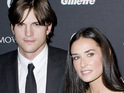 Demi Moore visits Ashton Kutcher on Two and a Half Men set.