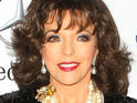 Joan Collins says that she is upset about the focus on excessively thin women in Hollywood.
