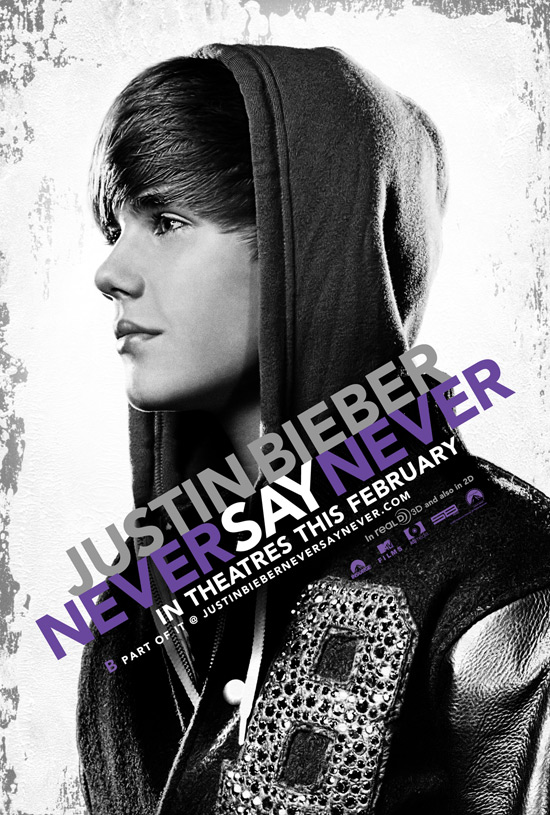 Justin Beiber Never Say Never poster